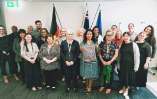 Carers Queensland staff from the Logan office celebrating NAIDOC Week